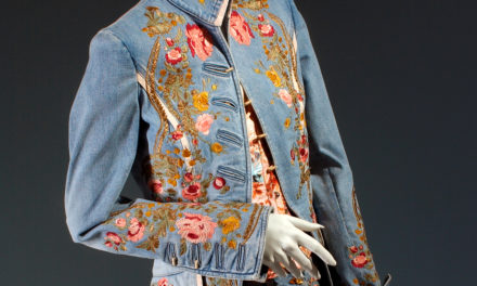 2003 – Roberto Cavalli, Spring/Summer RTW embroidered denim ensemble