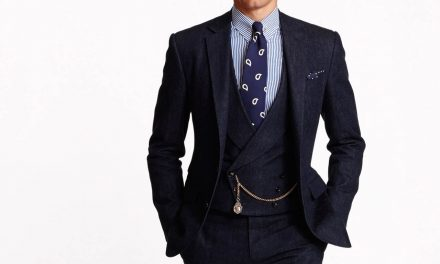 2015 – Ralph Lauren, denim three-piece suit